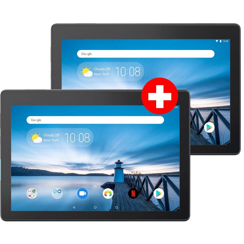 "Doppelpack Lenovo Tab E10 10.1"" Tablet (1280x800 IPS, Snapdragon 212, 2GB RAM, 16GB eMMC, GPS, microSDXC Leser, Android 8.1)"
