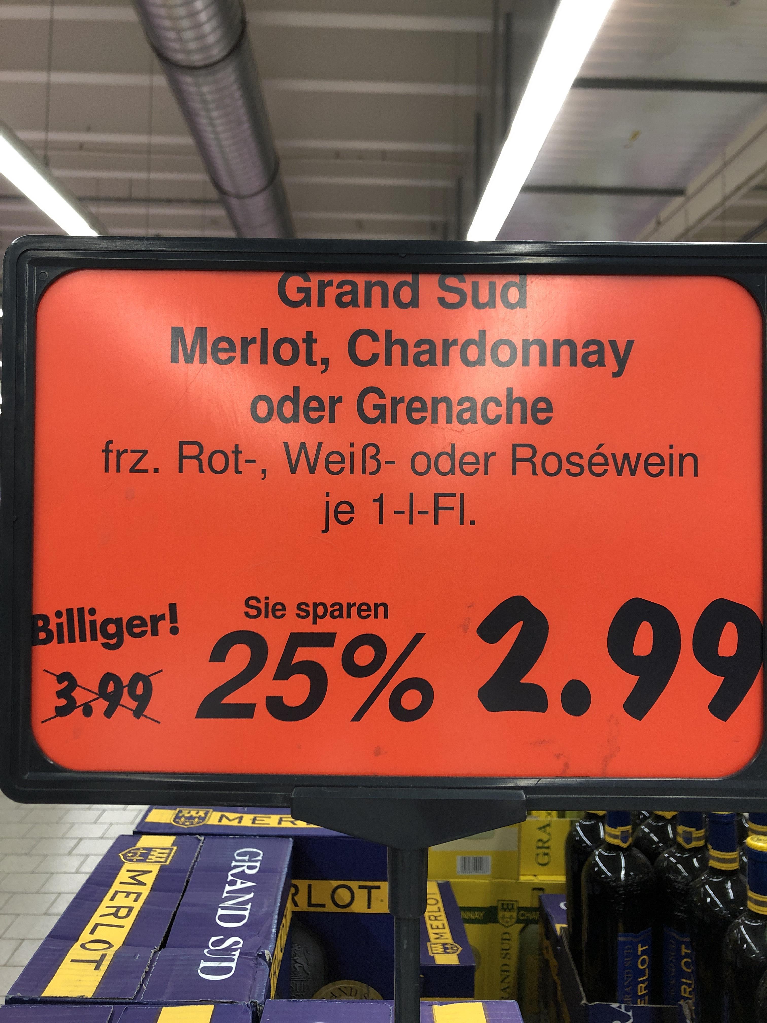 [ Lokal Kaufland Tübingen] Grand Sud - 1 Liter Flasche