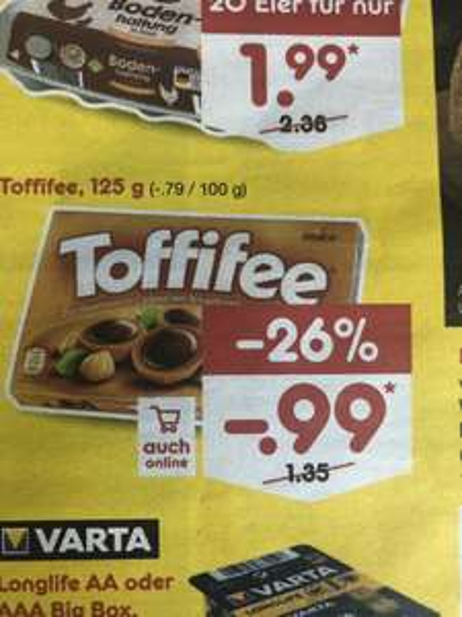 Netto MD Toffifee 125g 0,99€