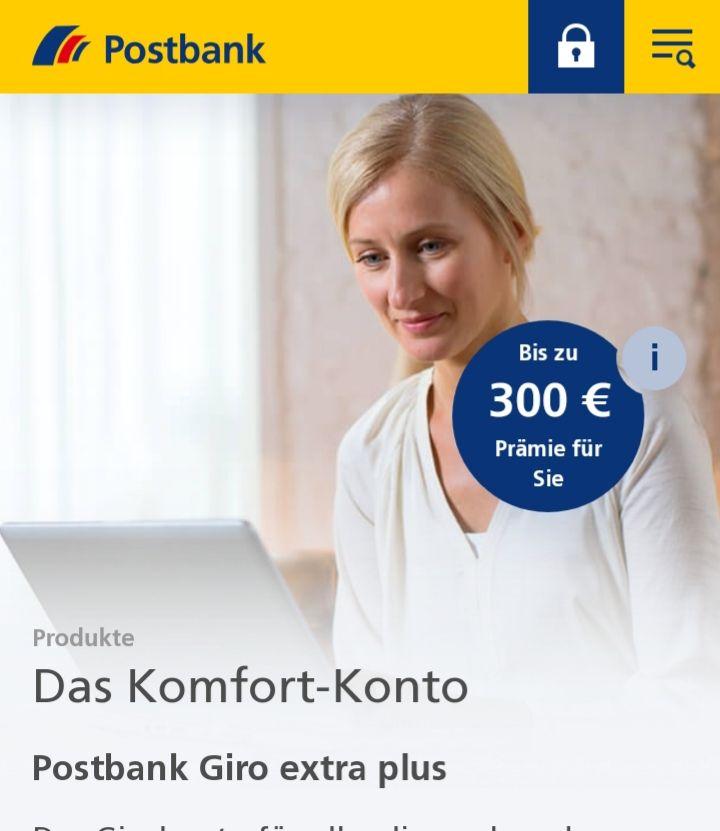 Postbank Giro Extra Plus mit bis zu 250 € Best-Choice Gutschein + 50€ KwK (mtl. 2.999,99€ Geldeingang oder 9,90€ / Monat Gebühr)