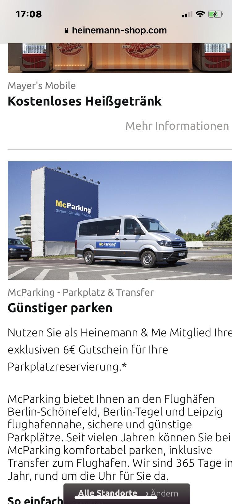 6€ bei Mc Parking sparen nur Berlin und Leipzig