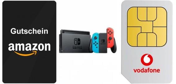 Vodafone Young M GigaKombi (11GB LTE) eff. mtl. 20,12€ + Nintendo Switch mit 50€ Amazon Gutschein o. PlayStation 4 Pro 1TB für je 4,99€ ZZ