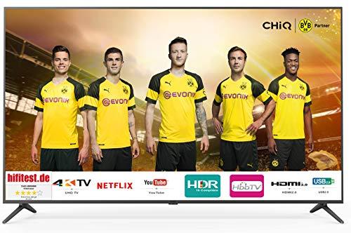 CHiQ U58G5500 147 cm (58 Zoll) 4K UHD Smart LED-Fernseher, Triple Tuner, Netflix, YouTube (Energieklasse A)