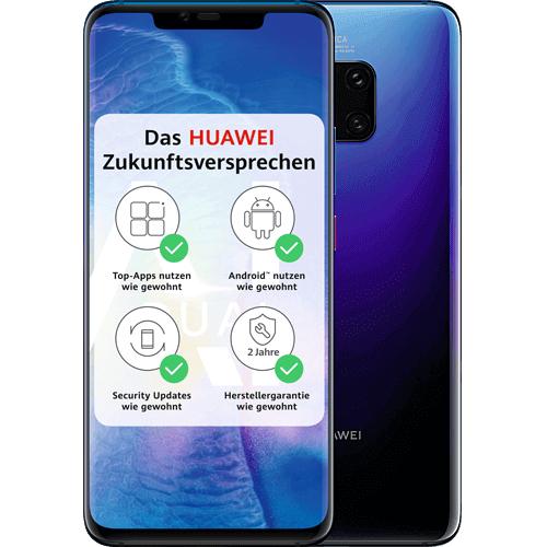 Huawei Mate 20 Pro mit Huawei Watch Gt ohne Vertrag für insgesamt 459,90€