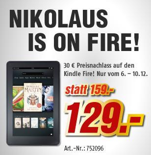 Kindle Fire ab dem 6.12 - 10.12. bundesweit bei MediMax