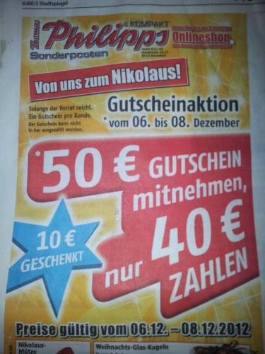 [Lokal]Thomas Phlipps 50€ Gutschein für 40€