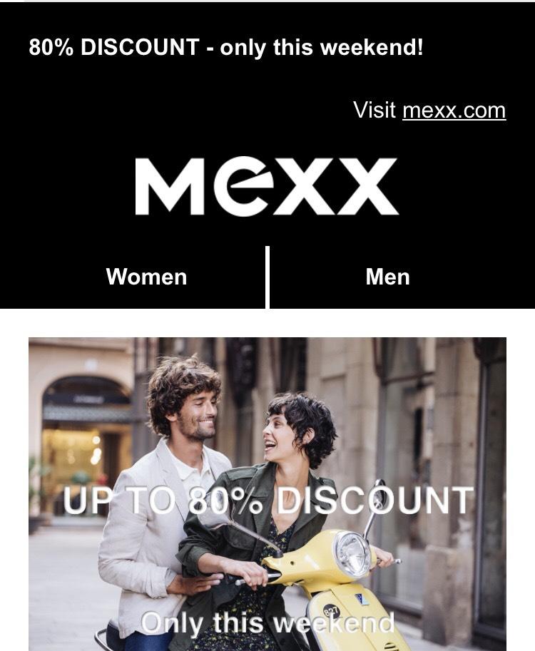 Sale bei Mexx online 80%