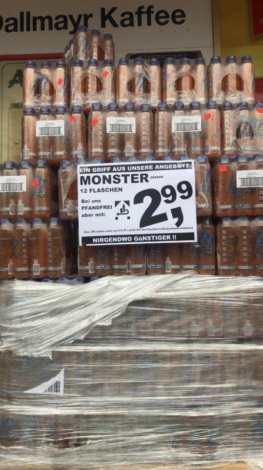 (Lokal Supermarkt Berning) Monster Hydro Tropical Thunder 12er Für 2,99€ - 3€ Pfand. 0€