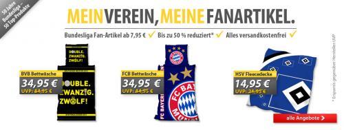 50 Fanartikel von diversen Bundesligavereinen zu tollen  Preisen ab 7,95 - versandkostenfreie Lieferung