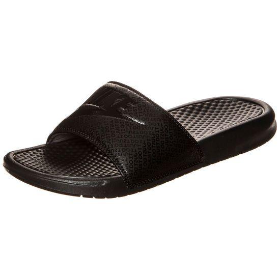 """Nike Benassi JDI Badesandale Herren """"all black"""""""