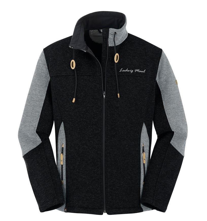 Maul Sports - Cordella - Wollfleece Herrenjacke - schwarz grau, Größe S (UVP = 139,95)