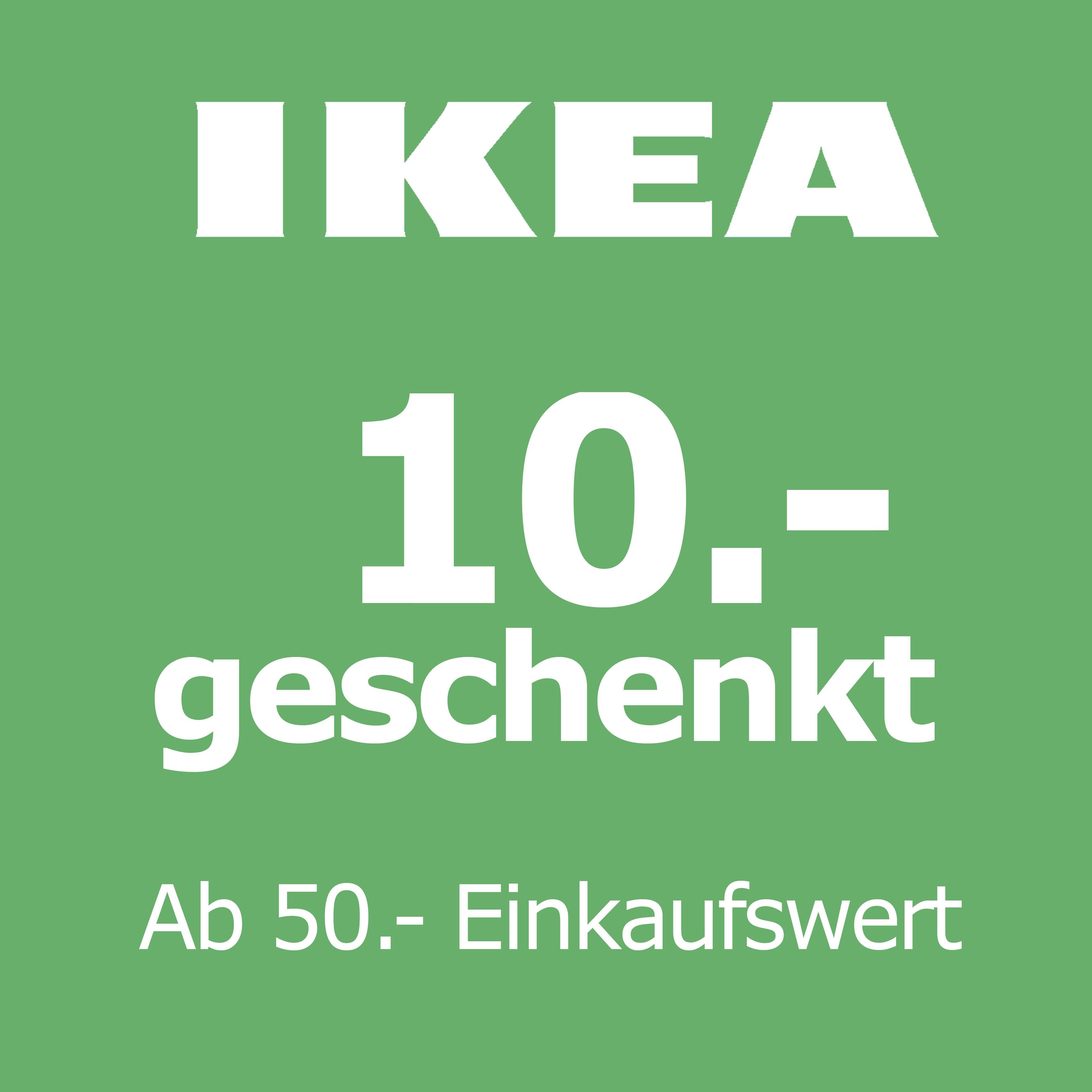 [Lokal IKEA Dresden] 10€ Gutschein mit 50€ MBW