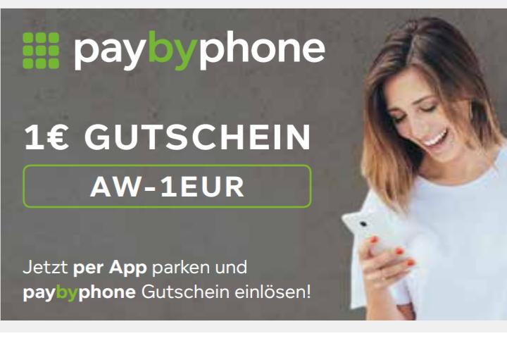 PayByPhone - mehrere Gutscheine