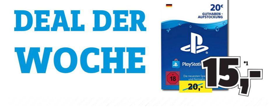 [Regional Conrad Stuttgart] PSN Card 20 Euro DE für 15,-€ (max 3 Stück pro Person]