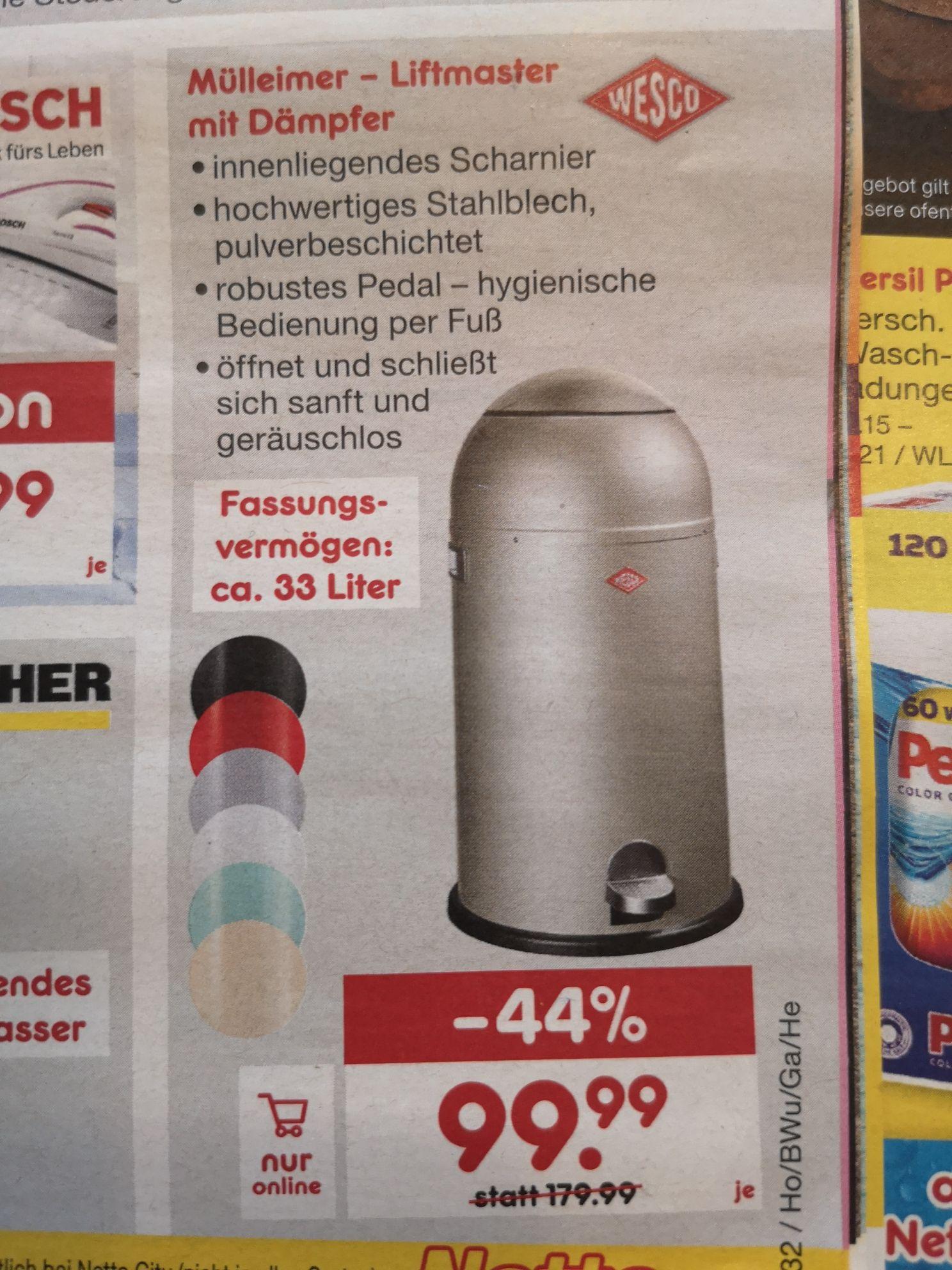 Wesco Liftmaster Mülleimer 33 Liter