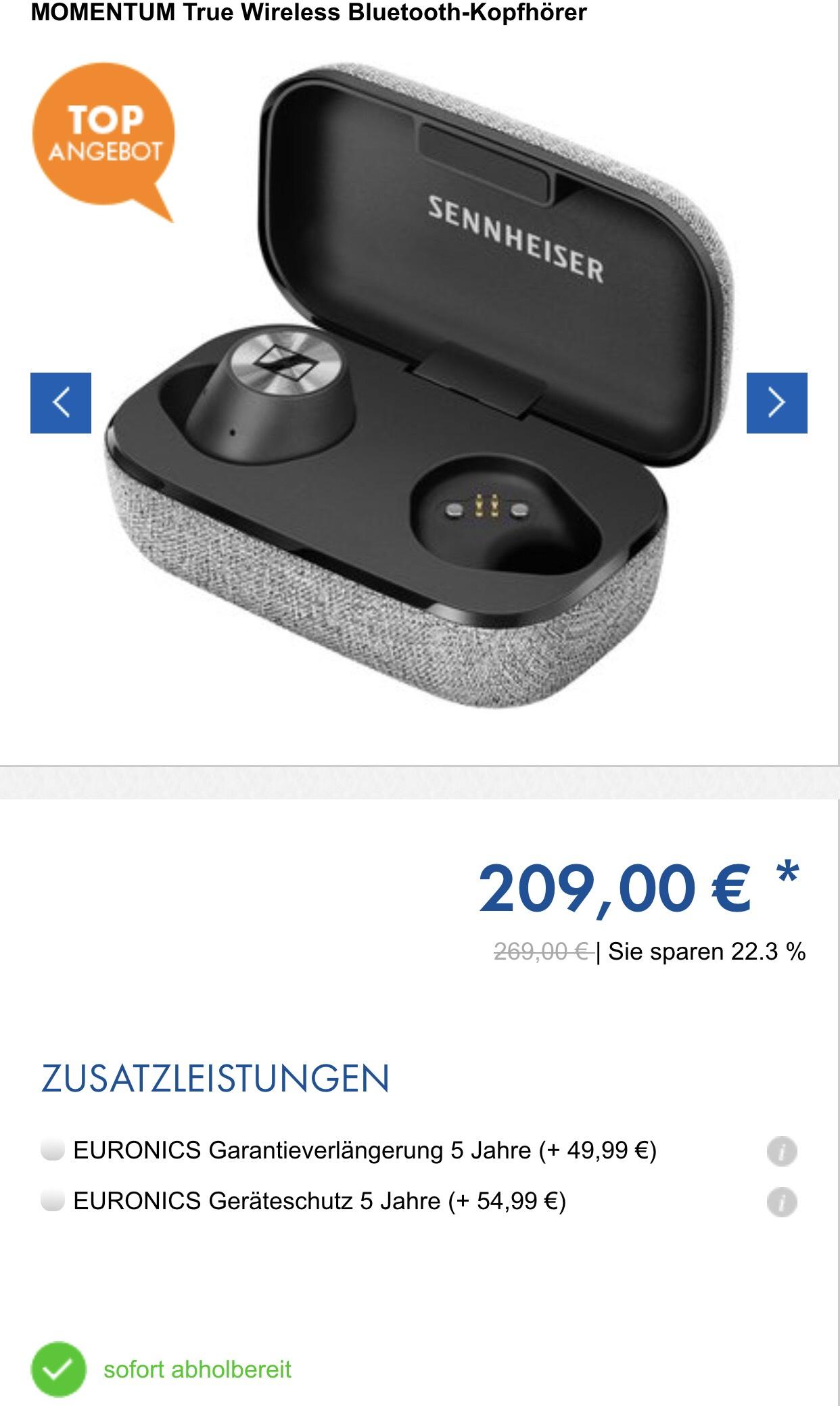 Sennheiser MOMENTUM True Wireless Bluetooth-Kopfhörer
