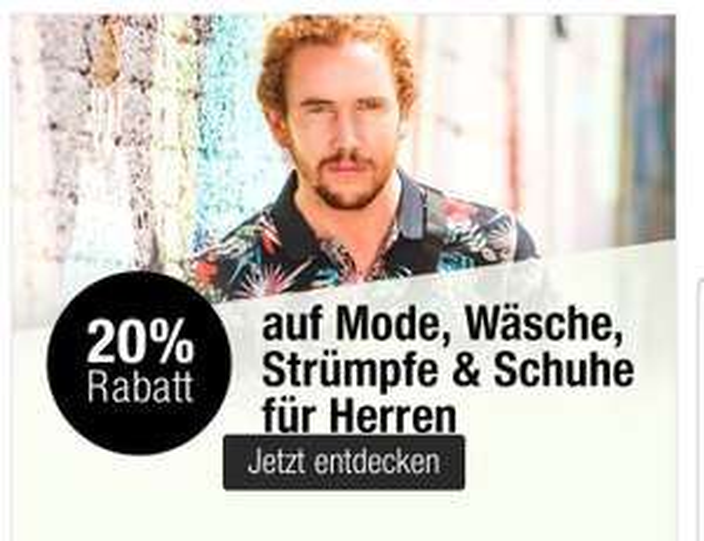 20 % bei Galeria Kaufhof auf Mode für Herren