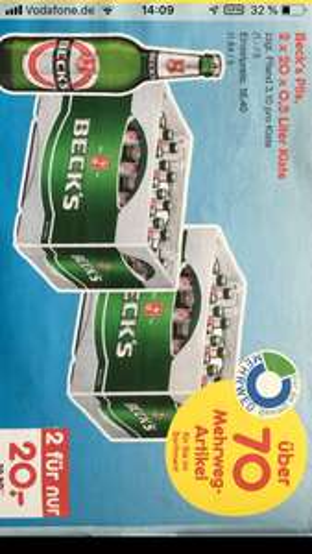 2 Kisten Becks 20 Euro im Netto