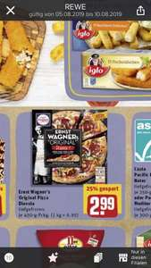 Ernst Wagner Pizza Rewe