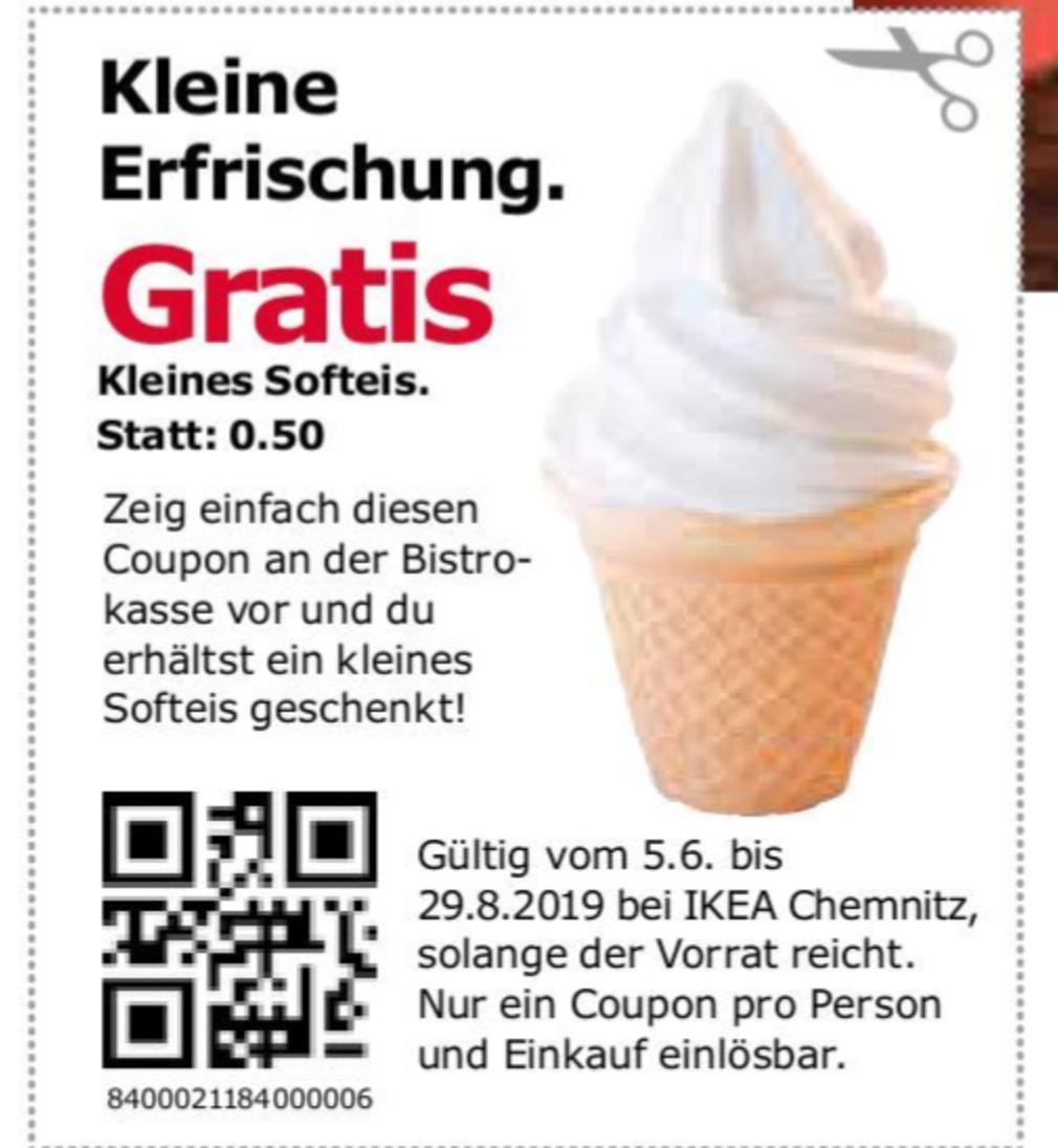 [IKEA Chemnitz] kleines Softeis gratis