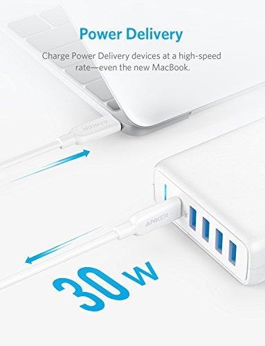 Anker PowerPort 5-Port USB C Ladegerät 60W mit PD