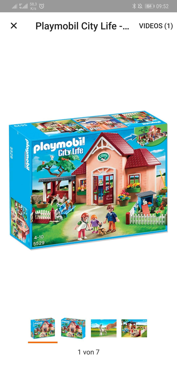 Playmobil Tierarztpraxis mit Gehege Lokal