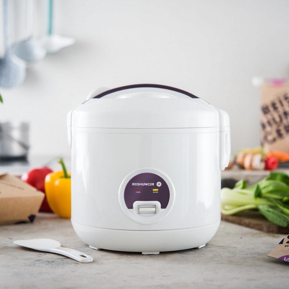 Reishunger Reiskocher (1,2l) + 200g Jasmin Reis, 2 Paar Reisbesteck & 1 x Reisverschluss versandkostenfrei