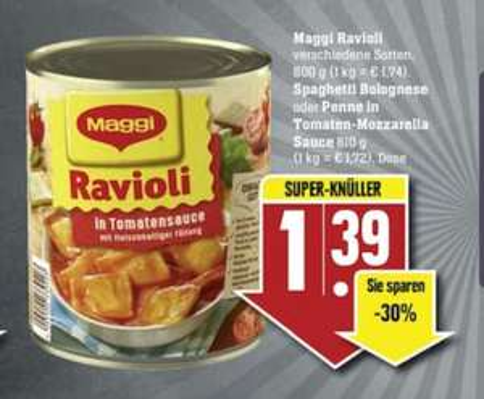 7 Dosen Maggi Raviol bei EDEKA Südwest - 4,73 Euro