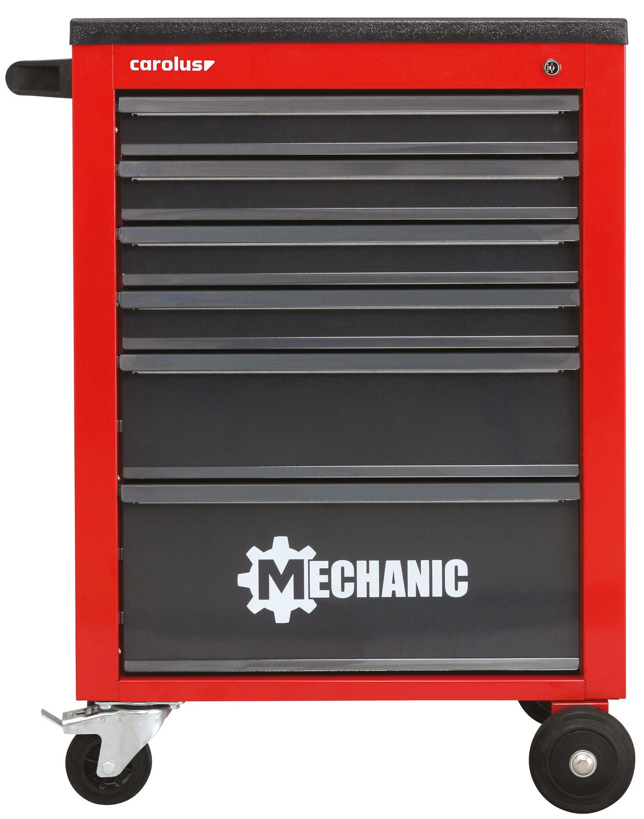 CAROLUS / Gedore-Red Werkstattwagen MECHANIC rot mit 6 Schubladen