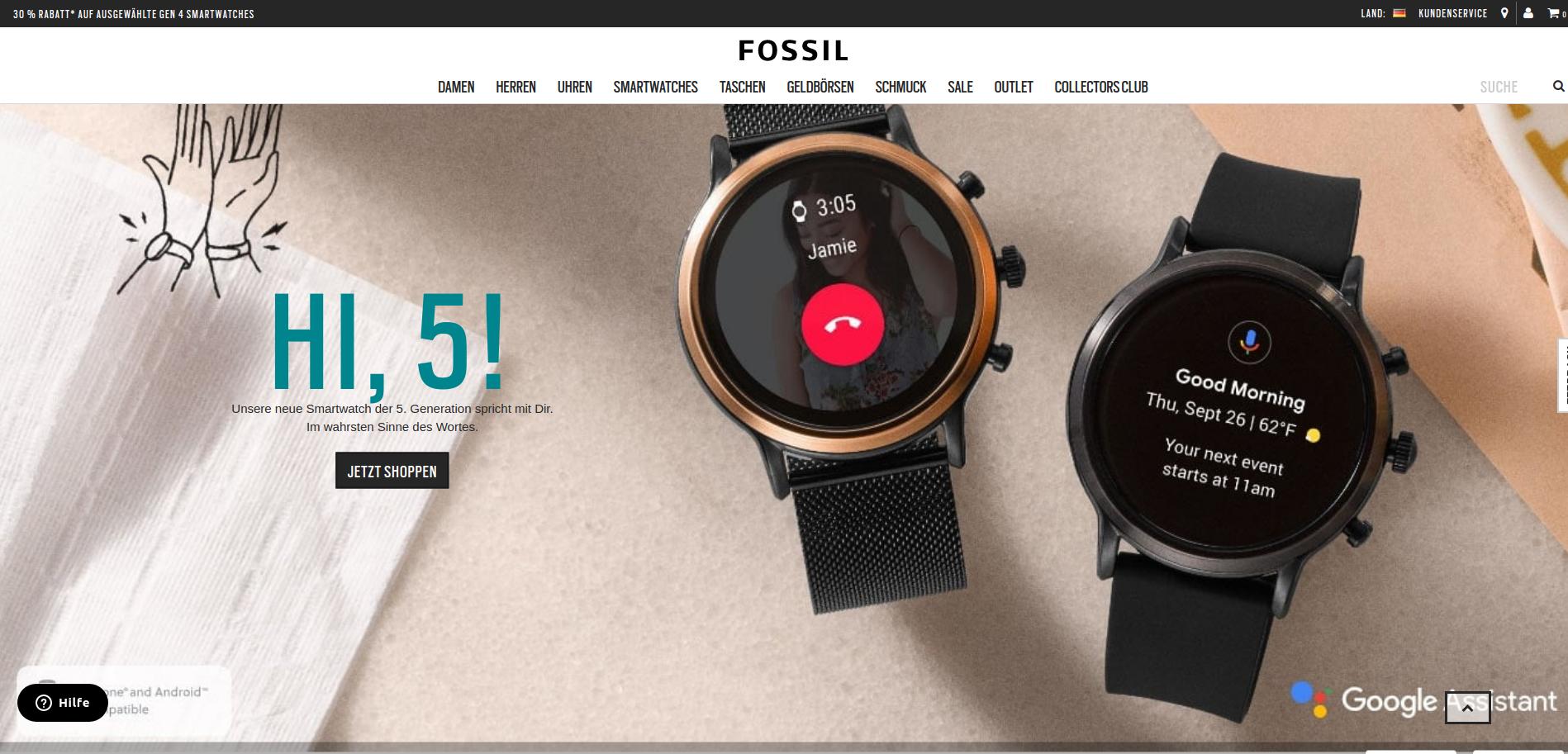 Fossil Smartwatch Carlyle/Julianna (5. Generation)