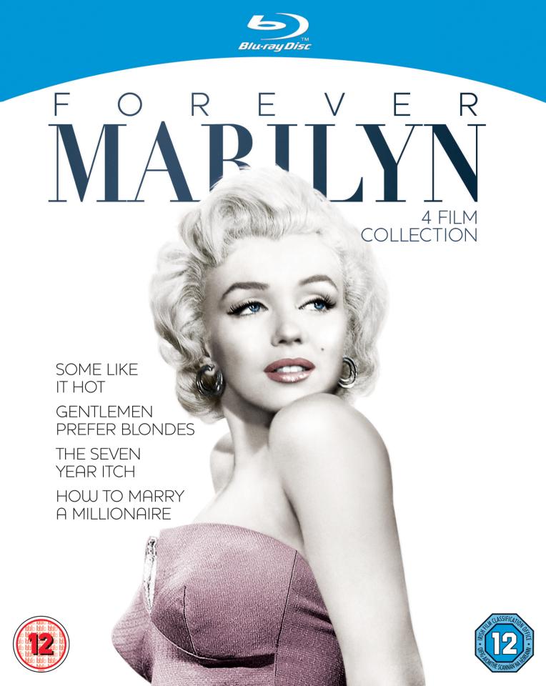 """""""Forever Marilyn"""" Collection auf Blu-ray (4 Filme: Manche mögen's heiß / Blondinen bevorzugt / Das verflixte 7. Jahr / Wie angelt man sich e"""