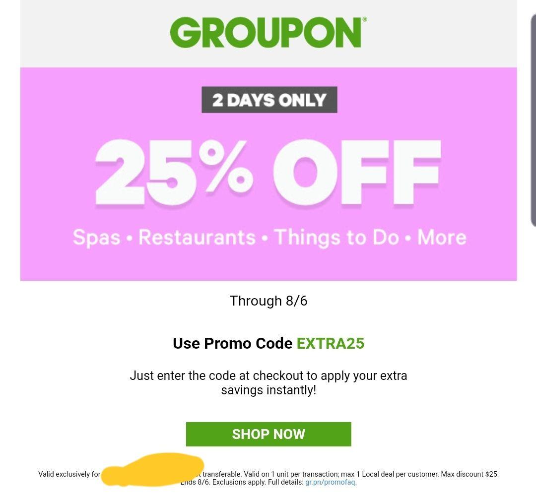 Bis zu 25% auf Lokale Deals Groupon