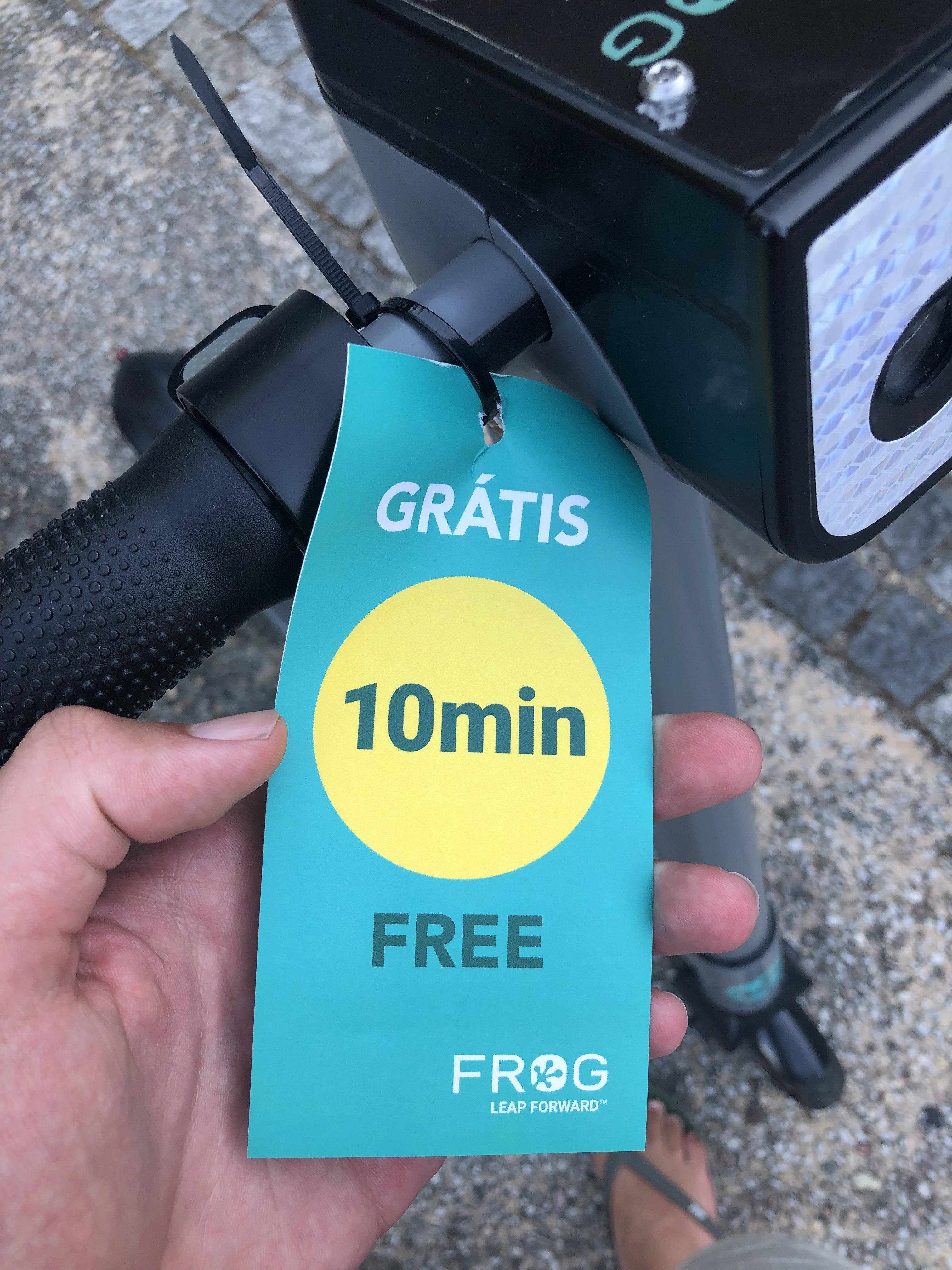 "E-Scooter ""FROG"" - 10 Minuten kostenlos fahren [LOKAL]"