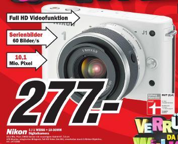 *Top Weihnachtsgeschenk* Nikon 1J1 inkl. 10-30mm für 277€ @ MM Baden Baden