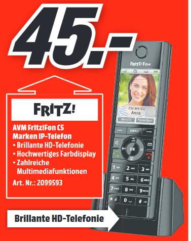 [Lokal: Media Markt Trier] AVM FRITZ!Fon C5 DECT-Telefon   Nimm 3, zahl 2 (PS4, Switch, XBO)   Bose Bass Module 700 =499€   u.a.