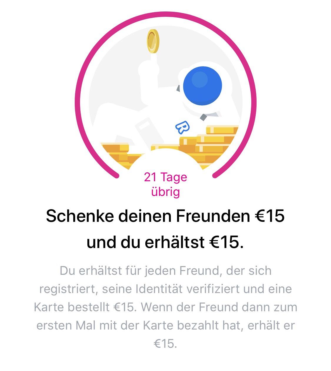 Revolut KwK 15€ + 15€ für Neukunde und Werber