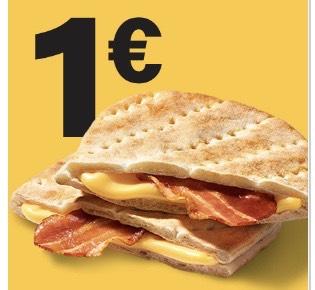1x McToast Bacon für nur 1€