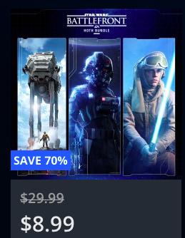 PSN US & CA - STAR WARS™ Battlefront™: Hoth Bundle für 8,08 €