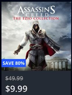 PSN US & CA - Assassin's Creed® The Ezio Collection für 8,98 €
