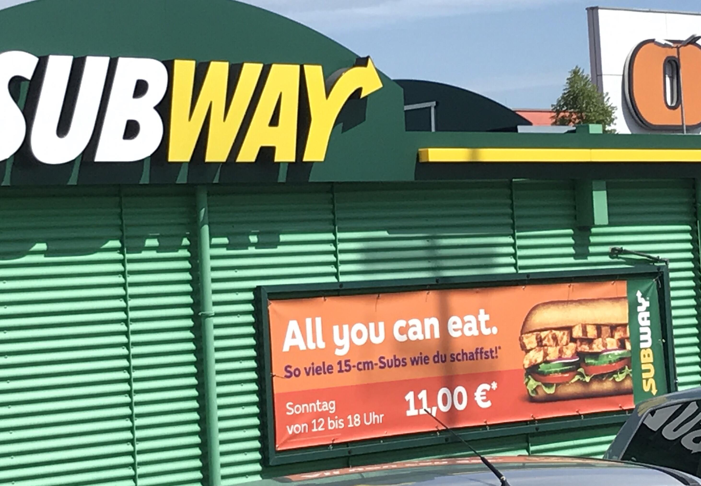 Subway all you can eat sonntags [Lokal Köln Godorf]