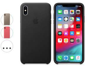 iPhone XS Max Case Leder (z.B. schwarz -25%)