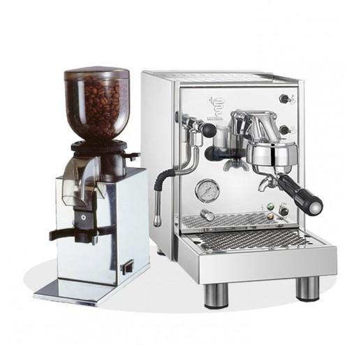 Bezzera Siebträgermaschine BZ09 S PM Mit Einfachmanometer + Nemox Lux Kaffeemühle