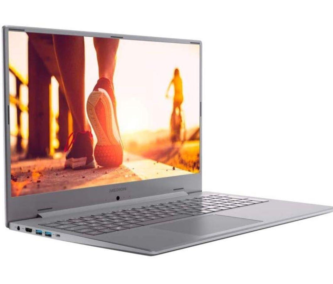 """Medion Akoya P17601 17.3"""" FHD IPS, i5-8265U, 8GB RAM, MX150 2GB, 256GB SSD + 1TB HDD, Voll-Aluminium-Gehäuse, USB-C, Win10, 2.3kg"""