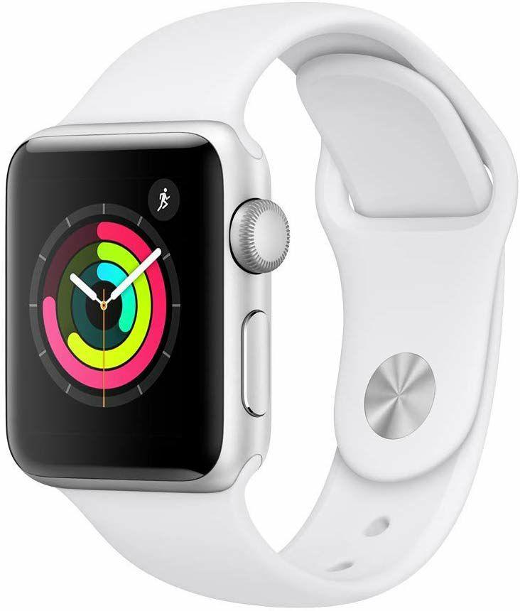 Apple Watch Series 3 (GPS), 38 mm Aluminiumgehäuse mit Sportarmband, in weiß oder schwarz