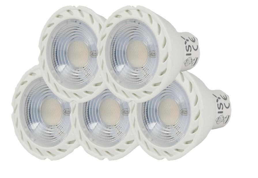 3 für 2: ISY LED Lampen GU10 warmweiß, 200 Lumen, 3 Watt, 15 Stück