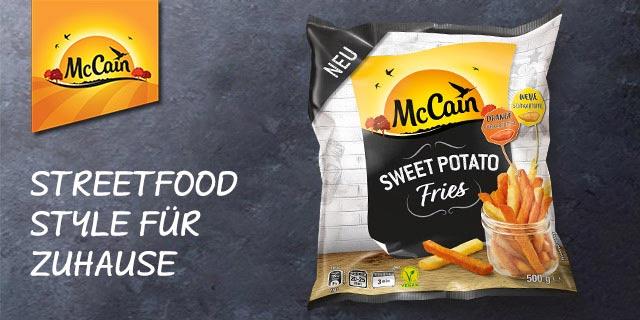 [ REWE bundesweit ab 19.08 ] Mc Cain Sweet Potato Fries für effektiv 1,22€ (Angebot + 1€ Cashback von Coupies)