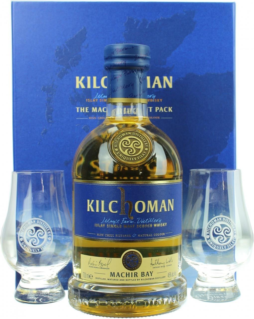 [D12] Donnerstagsdeal Kilchoman Machir Bay Gift Pack, 0,7 l, 46% inkl. 2 Gläsern