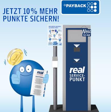 [real] 10% Payback Extrapunkte für die Punkteeinlösung eines digitalen Einkaufsgutscheins vom 12.-17.08.