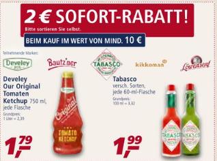 [Real ab 12.08] Original TABASCO Mc Ilhenny in versch. Sorten für je 1,99€//Bei Abnahme von 6 Flaschen 2€ Sofortrabatt (1,66€ je 60ml)