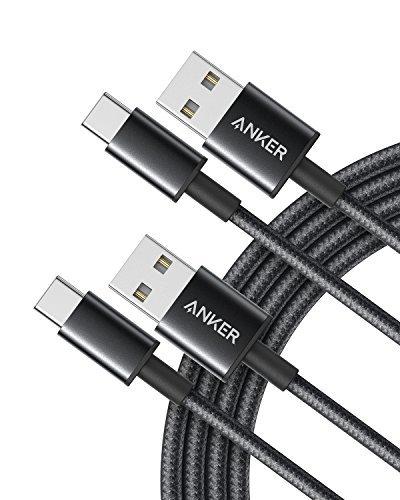 Anker USB-C auf USB-A Kabel: Doppelpack in schwarz für 7,64€   robustes Powerline+ II in rot für 7,49€ (1,8m lang, Nylon-umflochten) [Prime]